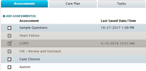 A early screenshot from the healthcare application Saxony built.